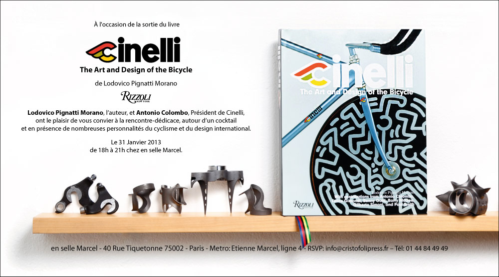 italian cycling journal first cinelli book presentation in france
