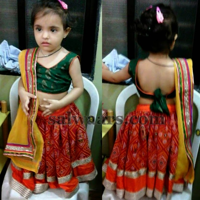 Baby In Knot Blouse Indian Dresses