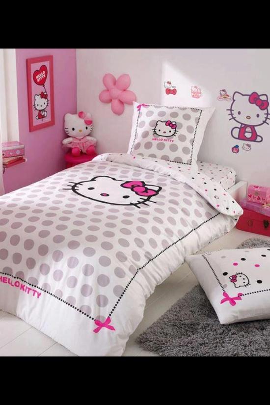 Kamar Tidur Hello Kitty Untuk Anak Anda