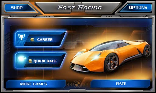 Giao diện game đua xe fast racing 3d