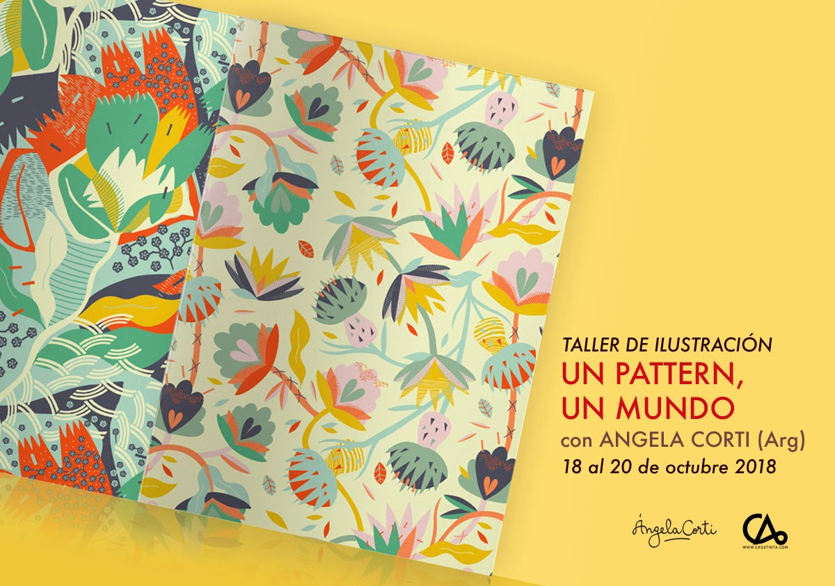 TALLER DE ILLUSTRACIÓN para estampados // 18 de oct