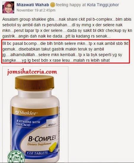 B-Complex, Info, Kongsi, Pengedar Shaklee Kuantan, Produk SHAKLEE, Testimoni B-Complex,