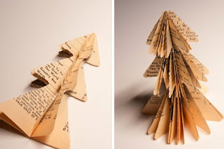 Arboles de Navidad con Papel de Diario, Navidad Ecoresponsable