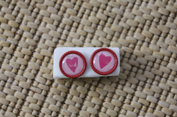 red liner pink with pink hearts valentines