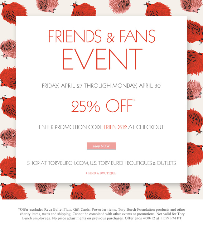 Tory Burch...Friends and Family Sale
