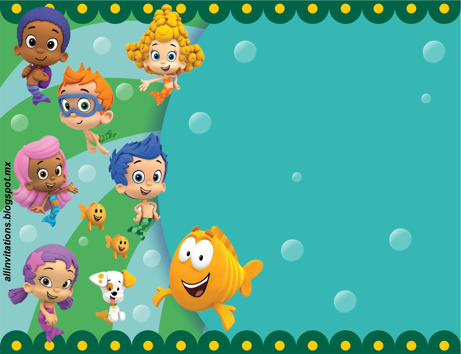 Bubble Guppies | All Invitations