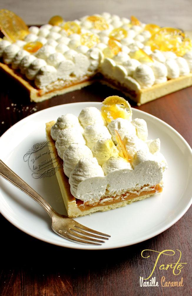 recette de tarte vanille caramel