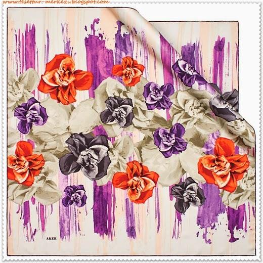 Aker Çiçek Desenli Eşarplar