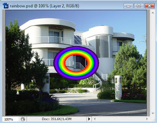 Cara menambahkan Efek Pelangi Di Foto