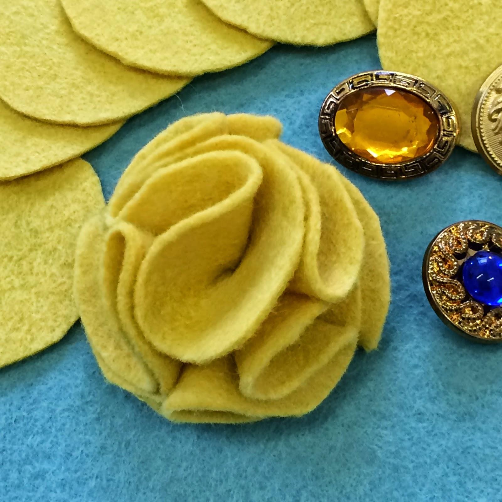 Hand Stitched Embellishments – Fluffy Felt Flower
