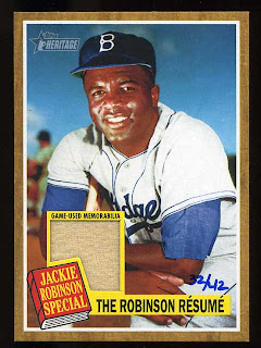 2011 Topps Heritage Jackie Robinson Relic