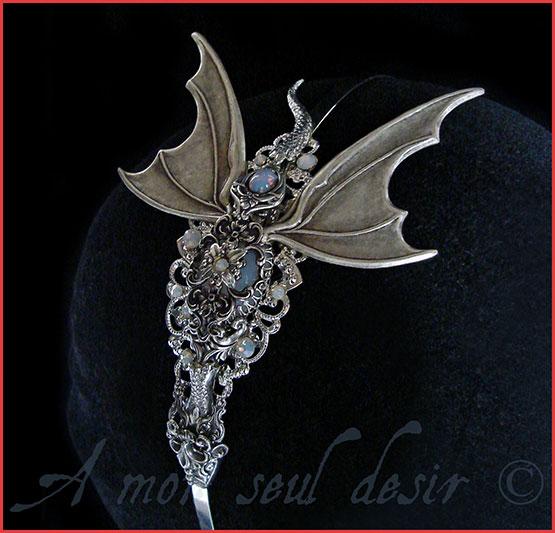 Dragon Bijoux Opale Khaleesi Coiffure