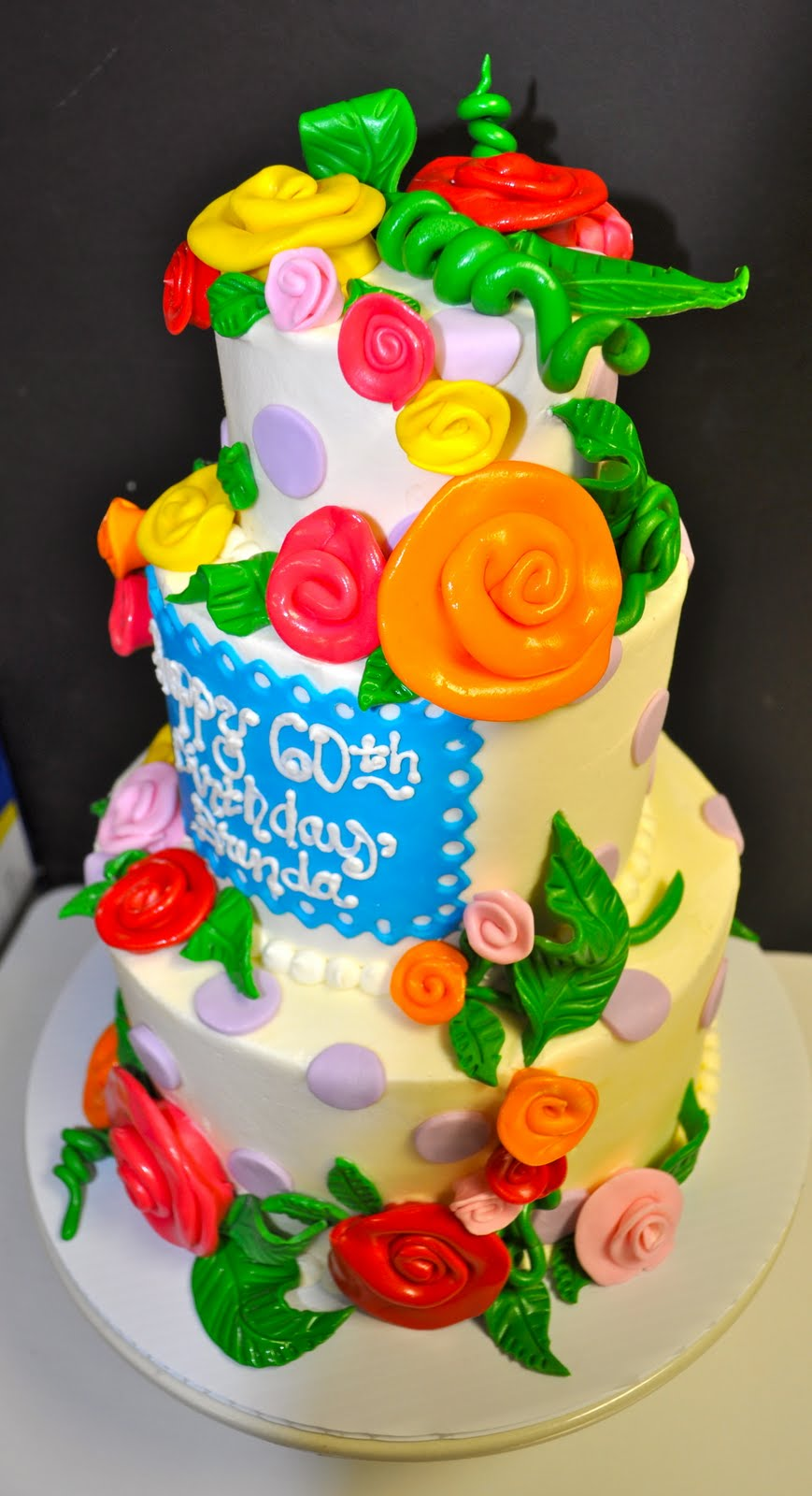 Coolest Cupcakes Whimsical Roses Birthday Cake