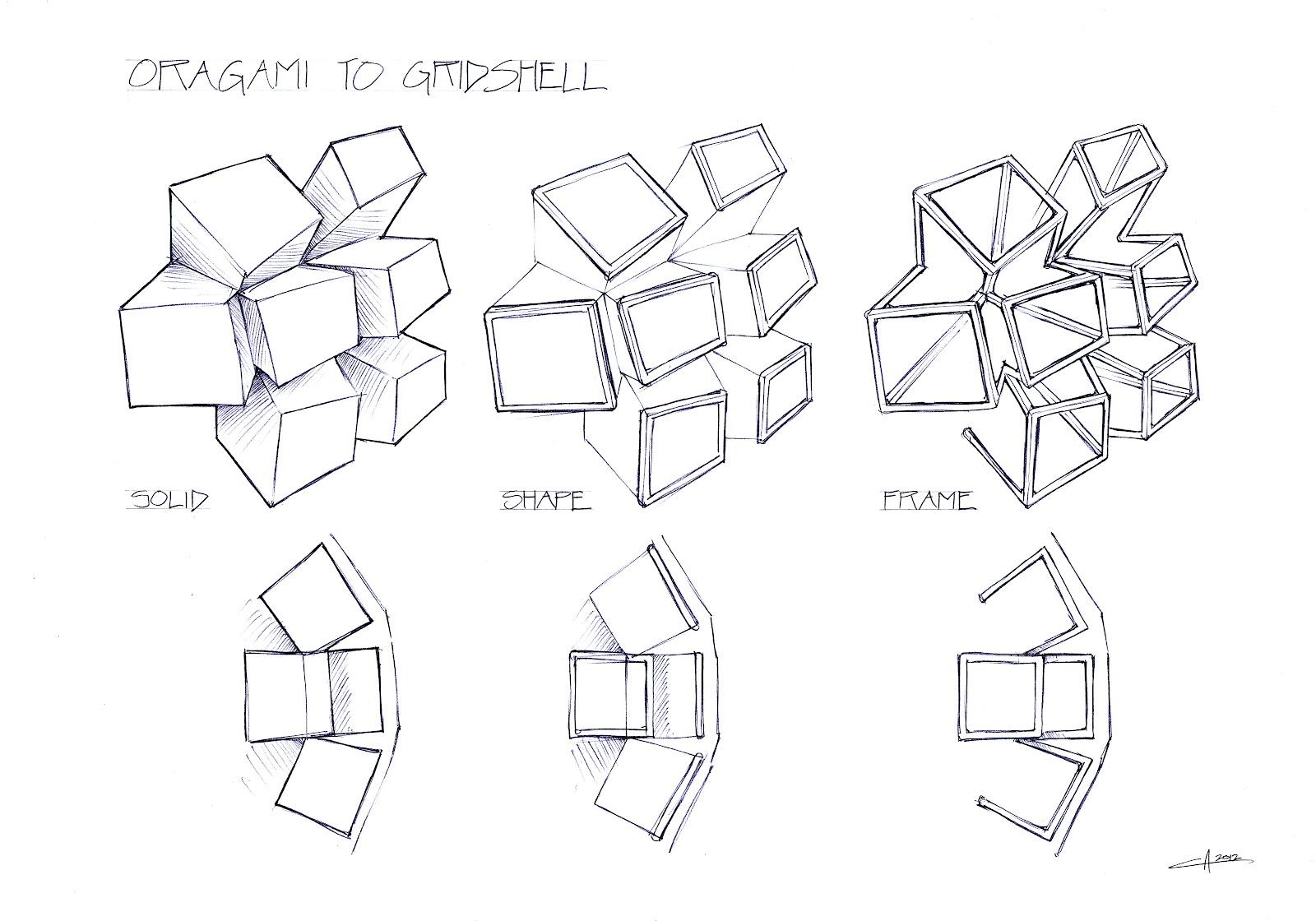 landart7  grid shell   tensile membrane concept