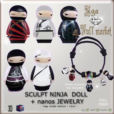 SCULPT NINJA DOLL + nanos JEWELRY