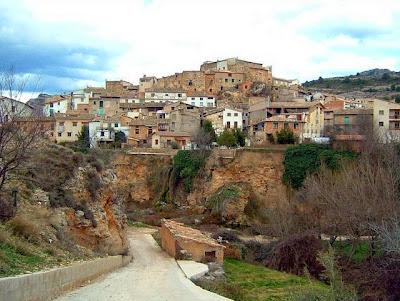 Vista del pueblo de Beceite