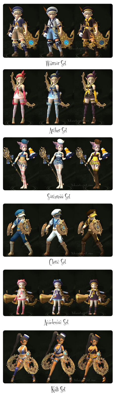 Dragon Nest SEA Marine Costume and Weapons Preview