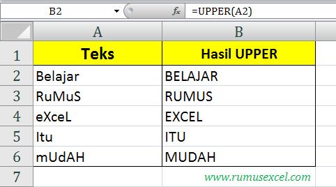Upper di Excel