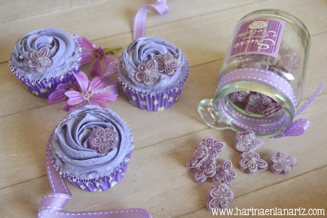 Cupcakes de caramelos de violeta