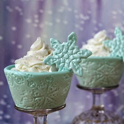 Snowflake Cupcake Wrappers