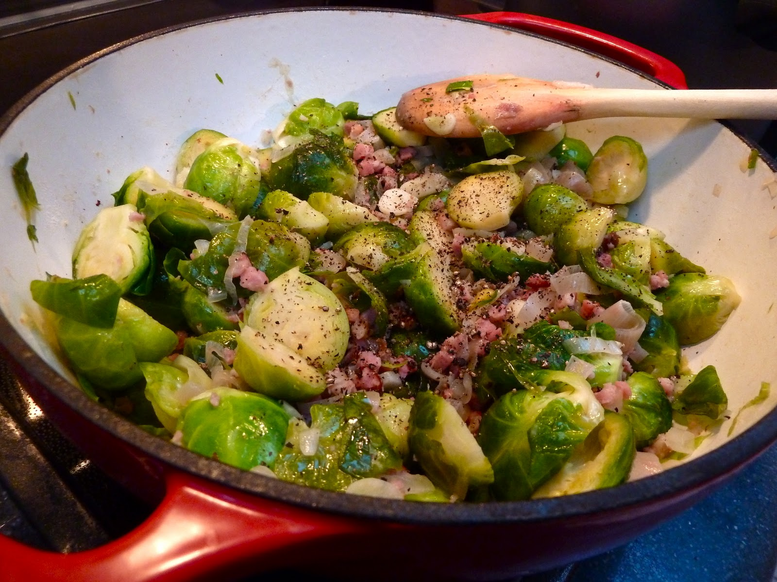 how to cook brussel sprouts pancetta