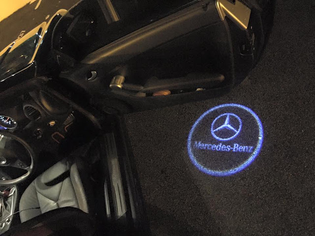 I love my awesome Mercedes-Benz SLK Welcome Lights on my door. When I open my car door the welcome light will automatically shine onto the ground. & The Singaporean Sisters - Number 1 Luxury Lifestyle Blog in ...