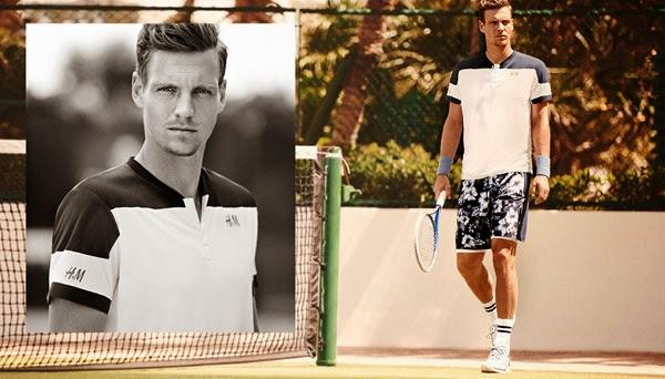colección de ropa de tenis Tomas Berdych de H&M 2014