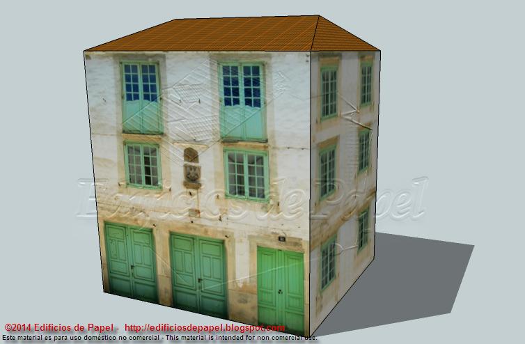 Casa blasonada en maqueta de papel