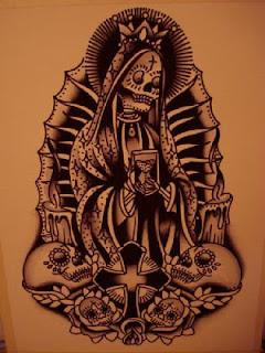 Ölüm dövmeler : Santa Muerte - kökeni ve anlamlarının