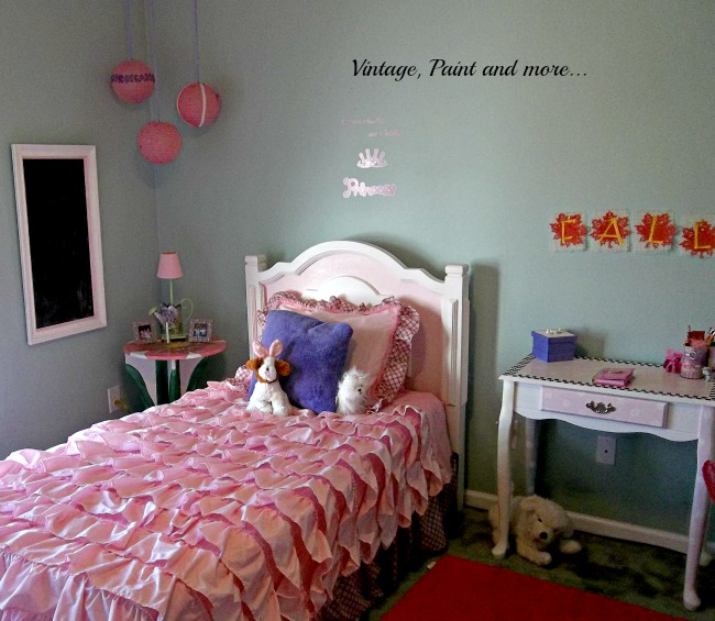 Vintage Paint and more... little girls room decorated with painted thrift furniture and crafts