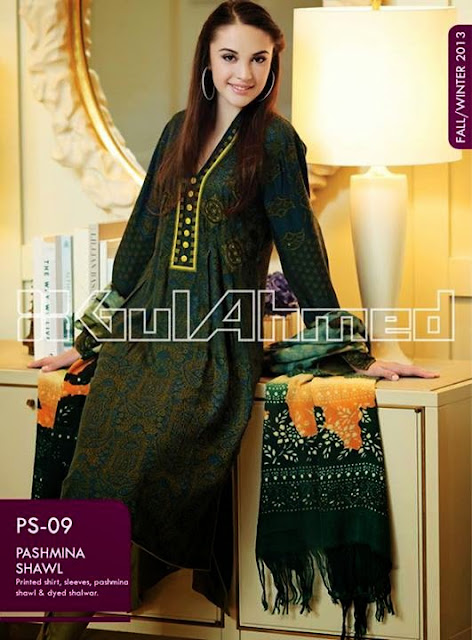 Gul Ahmed Pashmina Shawl Fall winter collection