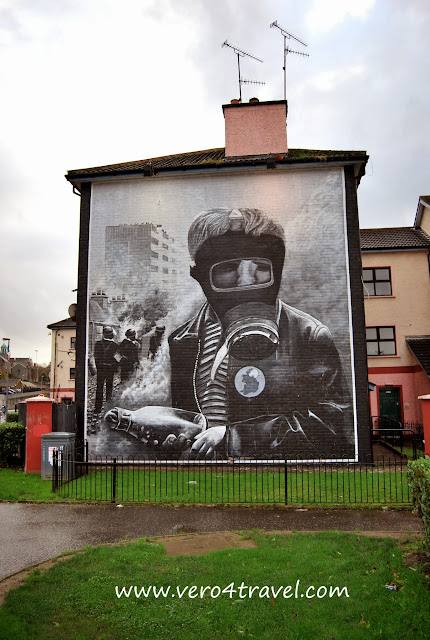 murales de Derry. Bloody Sunday