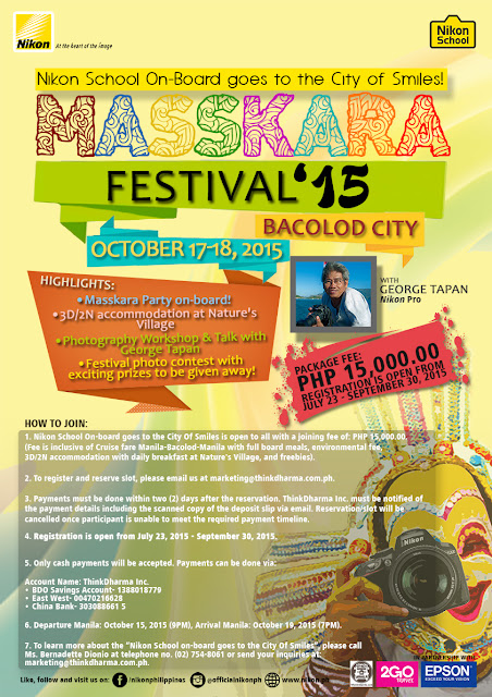Nikon School on-Board Goes to Masskara Festival 2015 in Bacolod City