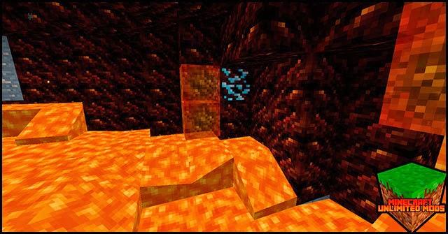 Elemental Caves Mod fuego