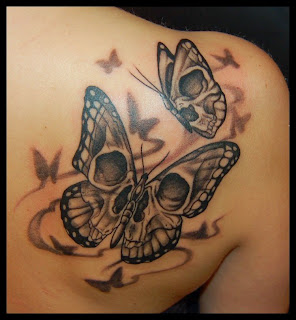 Butterfly Girl Tattoo Designs