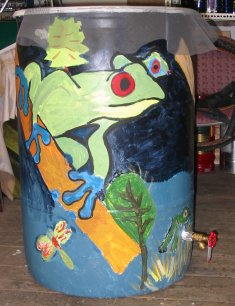 Communecos Painted Rain Barrels