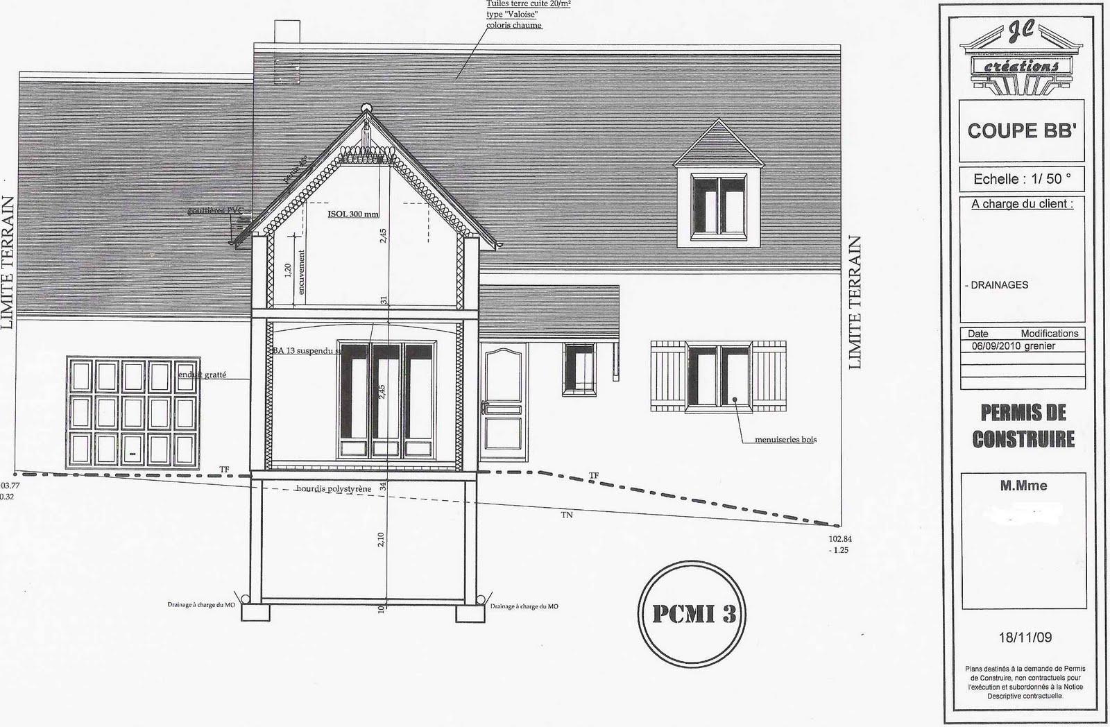Plan facade maison afterwards i developed a plan with for Plan maison facade