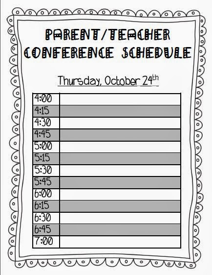 Teaching With Terhune: Ready For Parent/Teacher Conferences!