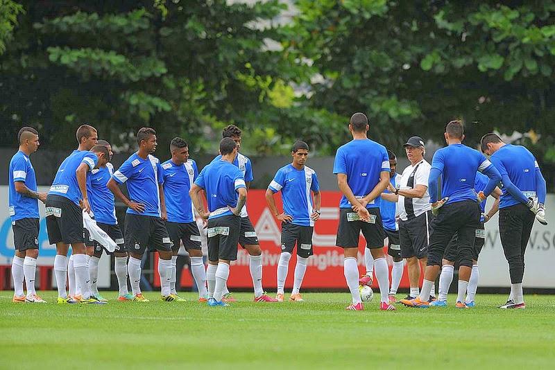 Santos se prepara para o clássico contra o Palmeiras