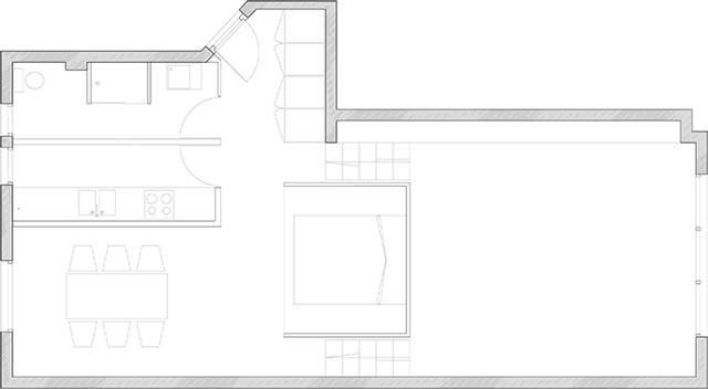 hanging bedroom plan