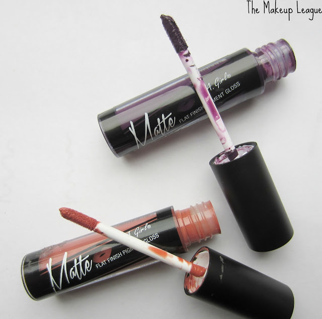 la girl matte flat finish gloss fleur black currant review