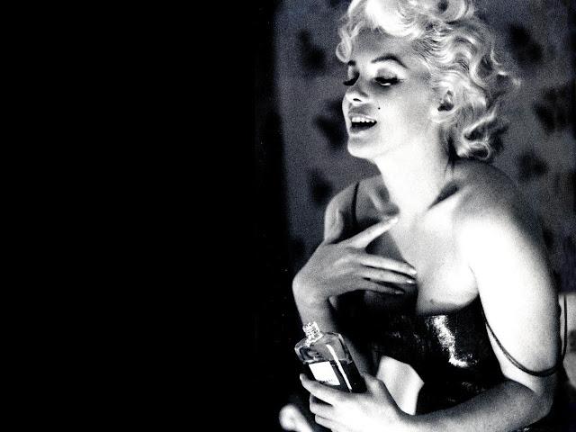 Foto in bianco e nero di Marilyn Monroe