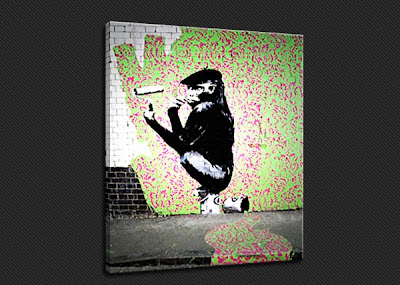 Banksy Graffiti Art Monkey
