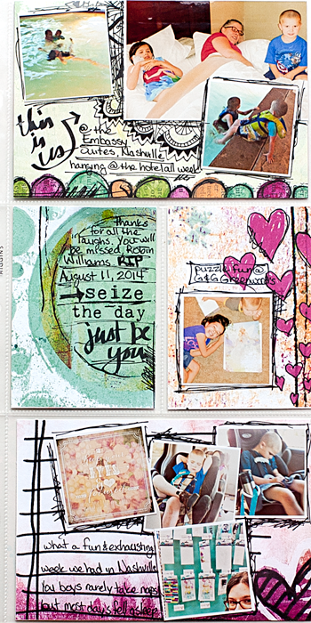 Heather Greenwood Designs | Week 33 insert front | The Lilypad Mixed Media Monthly | #mixedmedia #hybridscrapbooking #pocketscrapbooking