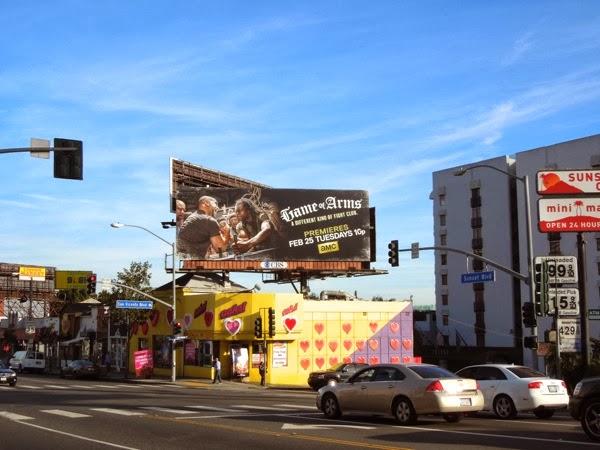 Game of Arms season 1 billboard Sunset Strip