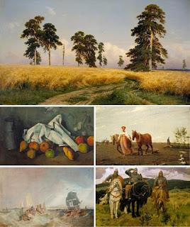 Картины известных живописцев в обоях для рабочего стола
