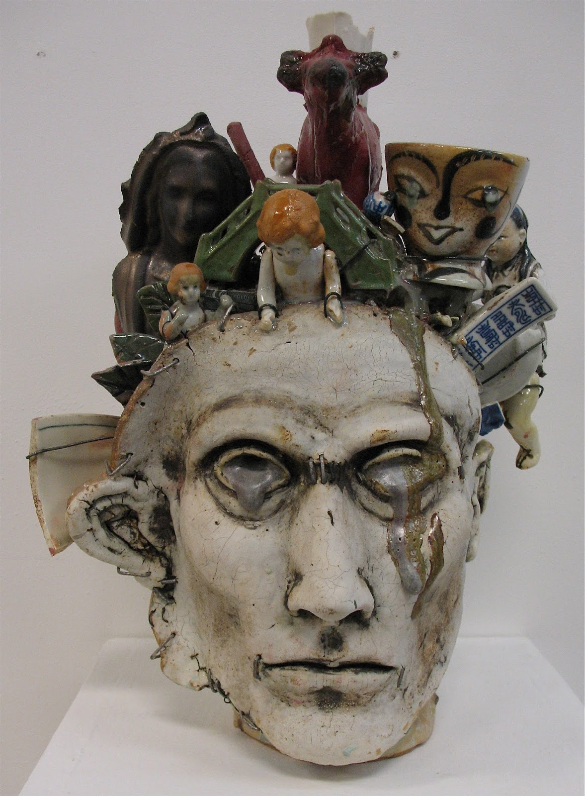 Peter Lenzo Ceramic Heads And Face Jugs