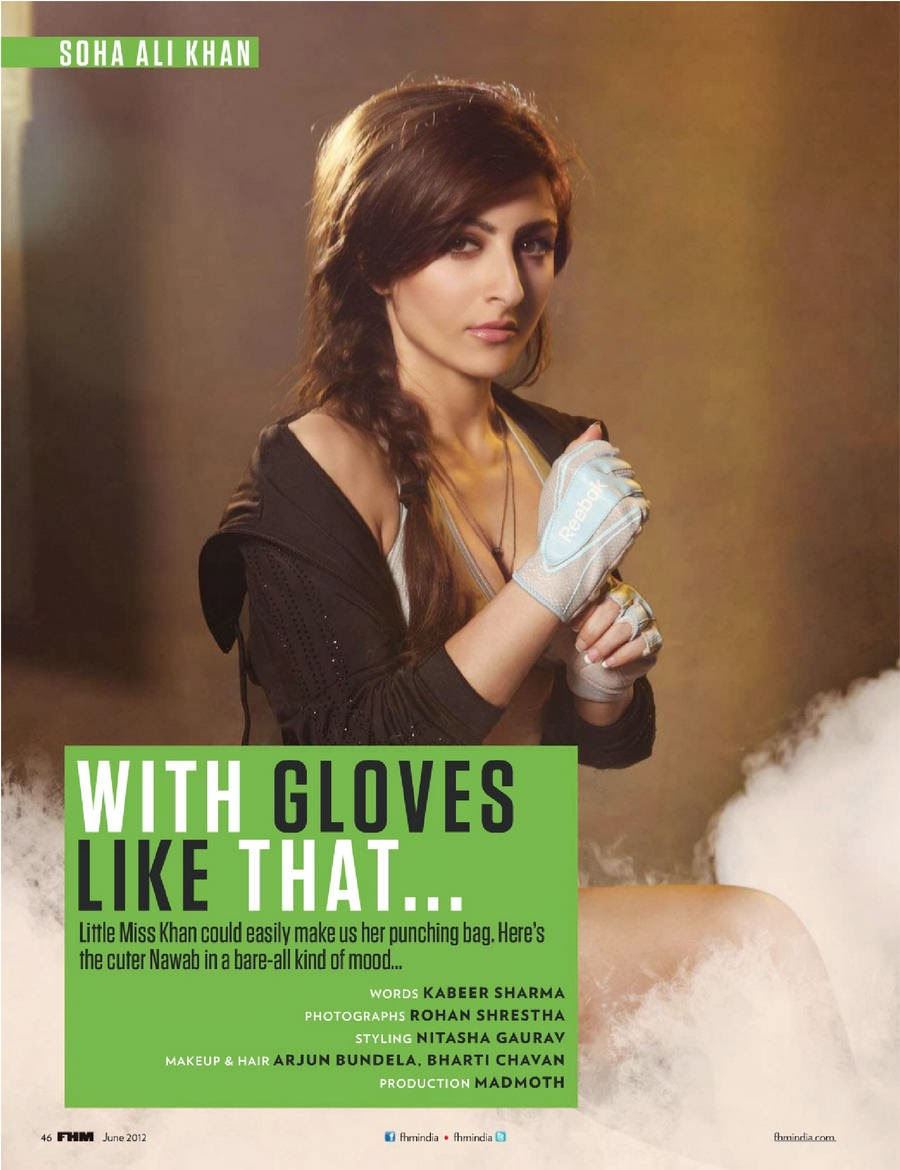 Soha Ali Khan's FHM India June 2012 Magazine Scan