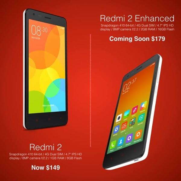 Harga Dan Spesifikasi Xioami Redmi 2 Enhanced
