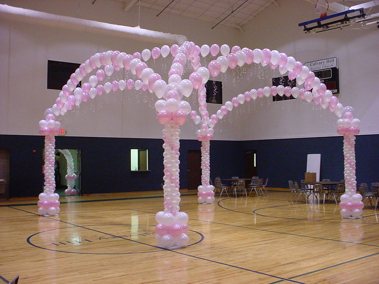 Balloon designs pictures balloon arches and columns for Floor decoration ideas